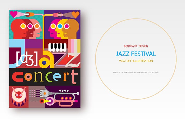 Thumbnail for Jazz Concert / Jazz Festival vector poster design