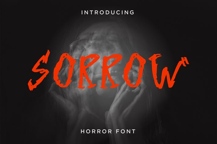 Thumbnail for Sorrow - Horror Font