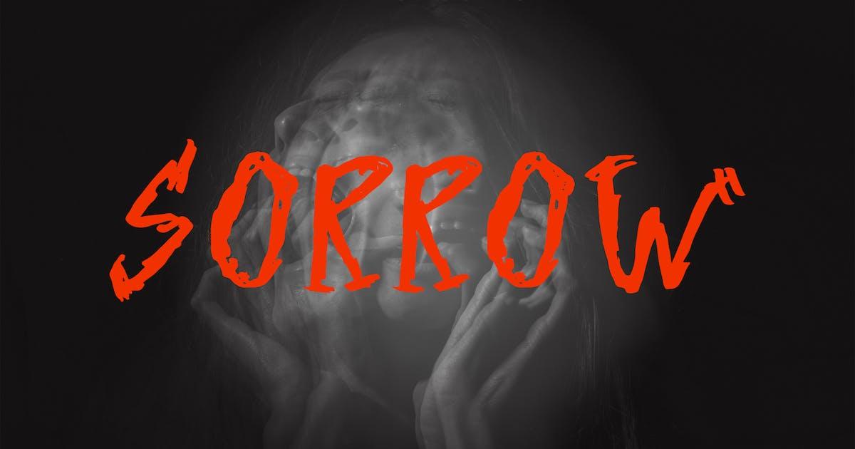 Sorrow - Horror Font by deemakdaksinas