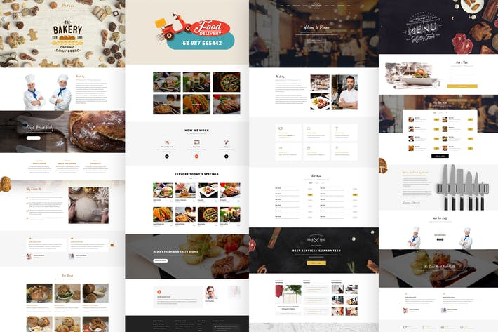 Thumbnail for Dorado - Restaurant PSD Template