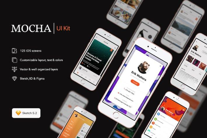 Thumbnail for Mocha Mobile UI Kit for SKETCH