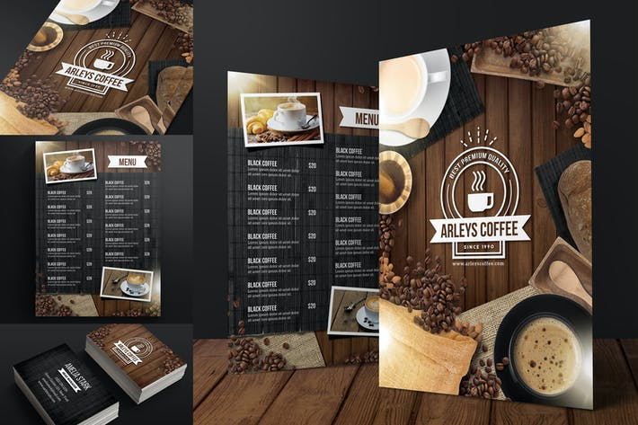 Thumbnail for Coffee Menu + Business Card