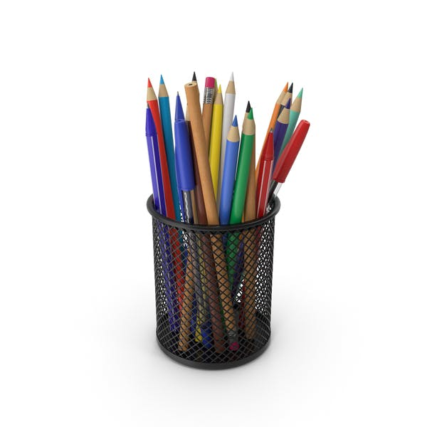 Cup With Pens And Pencils