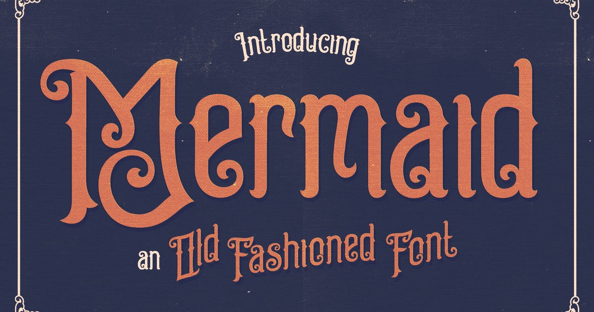 Download Mermaid Typeface by alterdecoinc