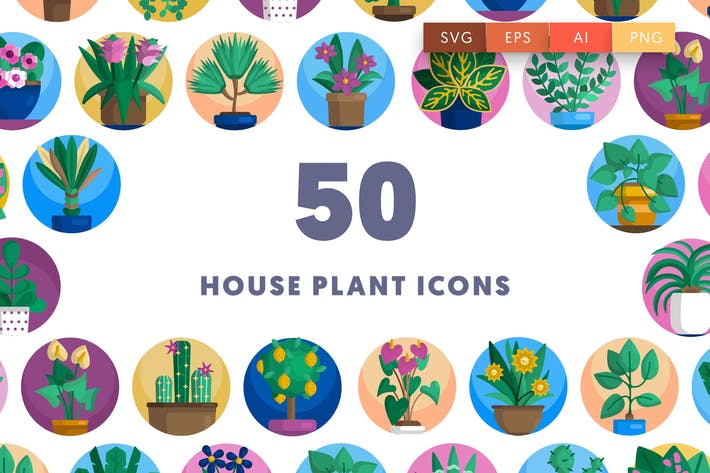 Thumbnail for 50 Plant Icons