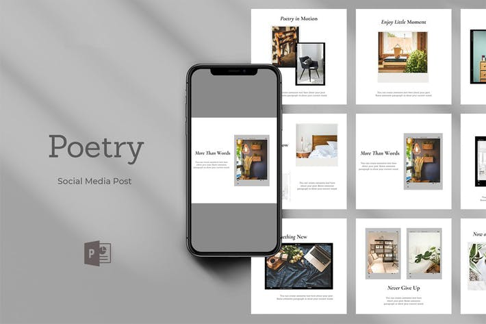 Thumbnail for Поэзия Powerpoint Социальные медиа пост