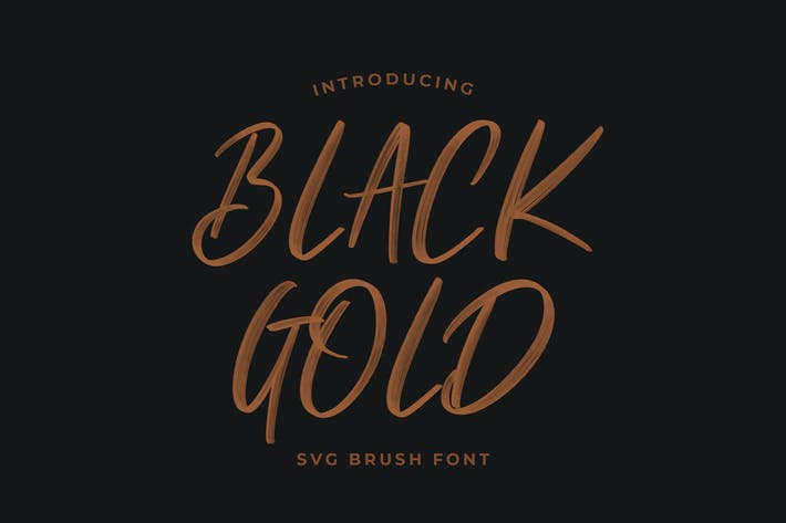Thumbnail for Black Gold Svg Brush Font