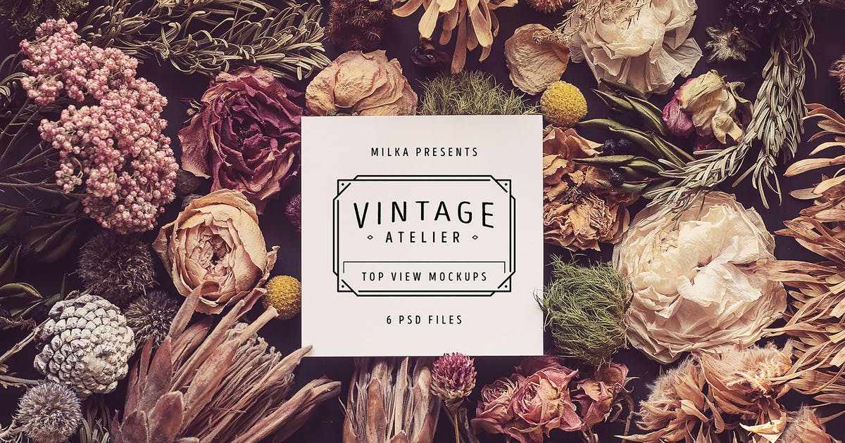 Download Vintage Atelier Top View Mockups by Oxana-Milka