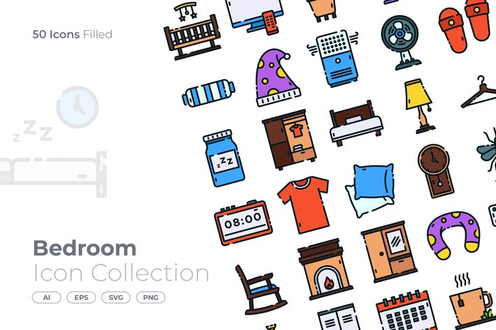 Thumbnail for Bedroom Filled Icon