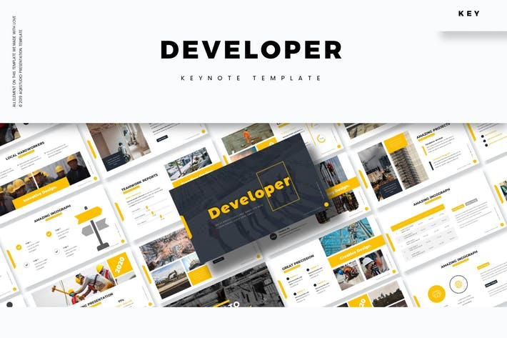 Cover Image For Developer - Keynote Template