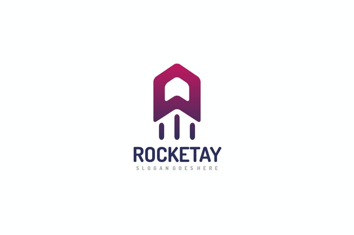 Thumbnail for A Letter-Rocket Logo