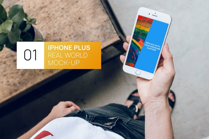 Thumbnail for iPhone Plus Loft in Hand Real World Mock-up