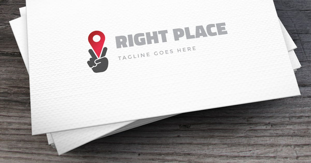 Right Place Logo Template by Unknow
