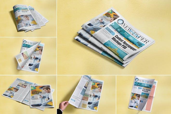 Cover Image For Newspaper Advert Mockups