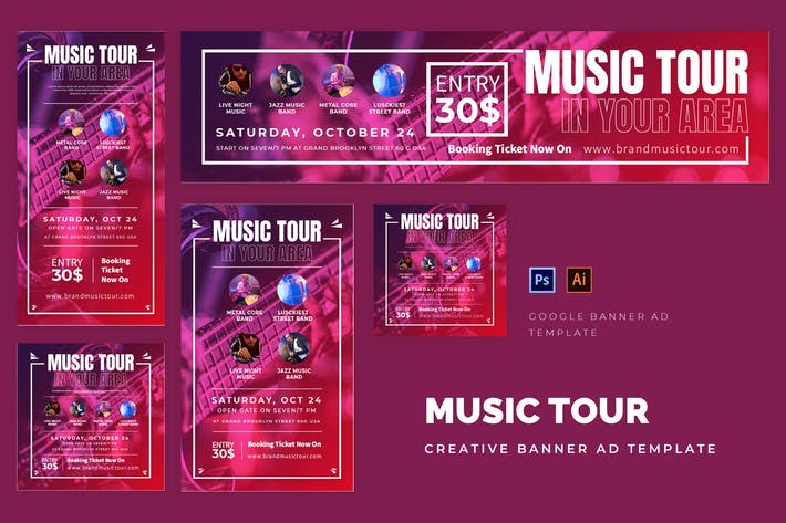 Thumbnail for Music Tour Google Ads