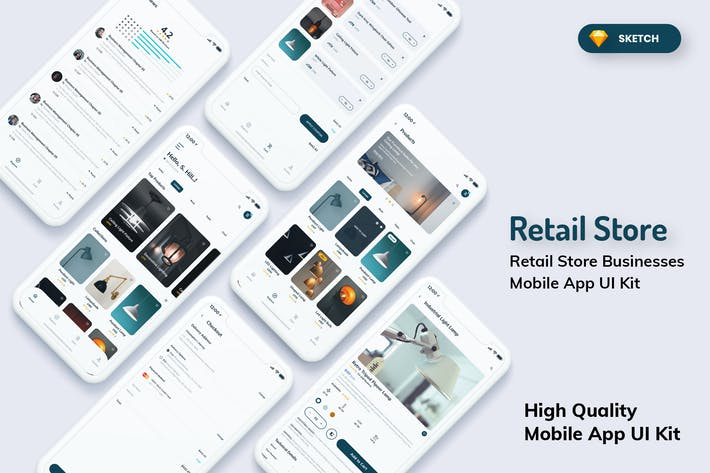 Thumbnail for Retail Store Mobile App Light Version (SKETCH)