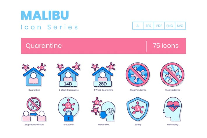 Thumbnail for 75 Quarantine Icons | Malibu Series
