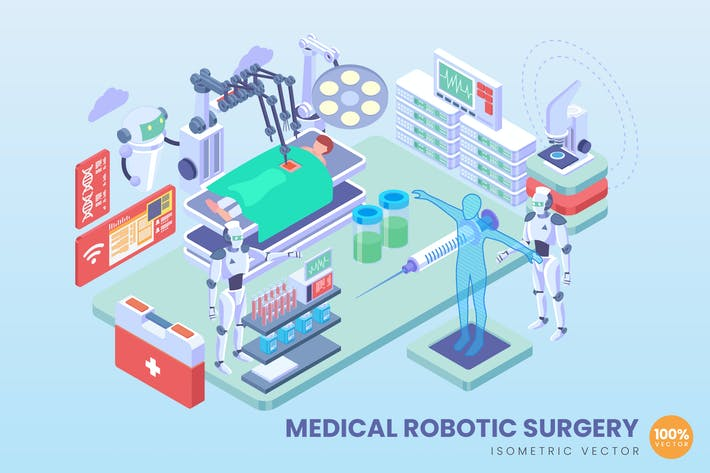Thumbnail for Isometric Medical Robotic Surgery Vector Concept