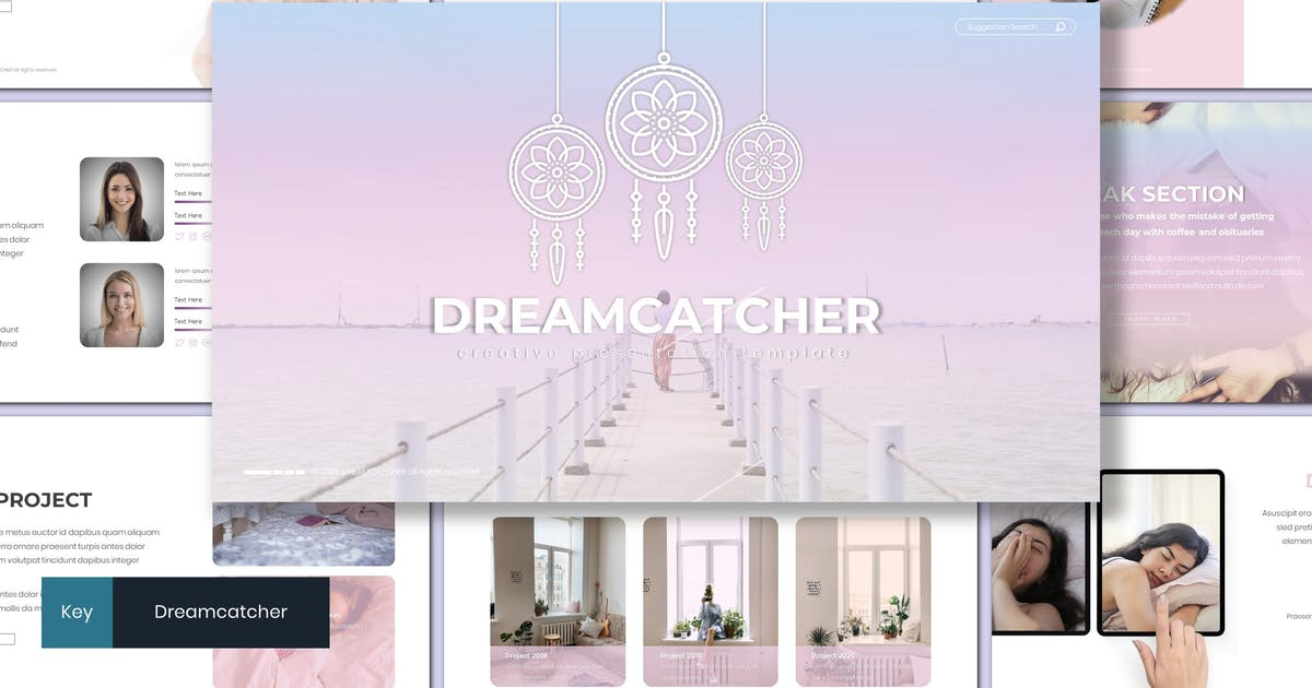 Download Dreamcatcher - Creative Keynote Template by inspirasign