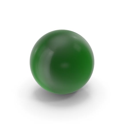 Glaskugel dunkelgrün