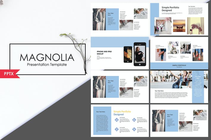 Thumbnail for Magnolia | PowerPoint Template