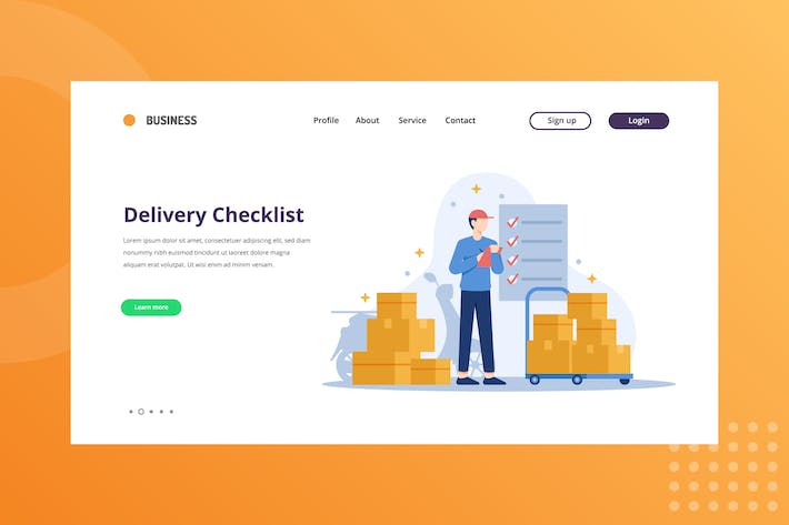 Thumbnail for Package Delivery Checklist Landing Page