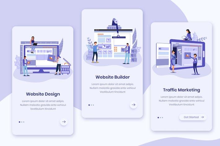 Thumbnail for Website Builder Onboarding App Screens
