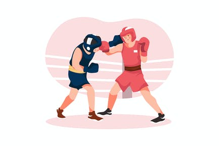 Boxing - Olympic Sport Illustration Concept