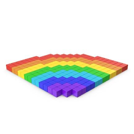 Icono pixelado del arco iris