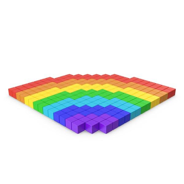 Радуга пиксельной иконки