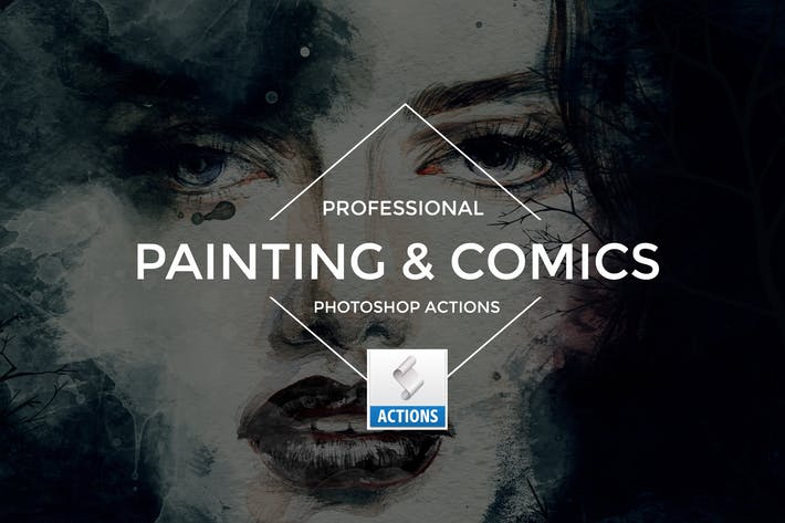 Thumbnail for Painting & Comics Photoshop Actions