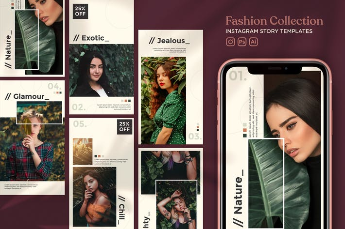 Thumbnail for Fashion Collection Instagram Story Templates
