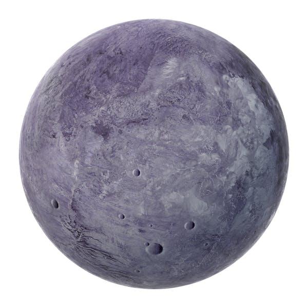 Вымышленная фиолетовая планета