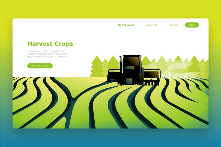 Thumbnail for Harvest crops Banner & Landing Page