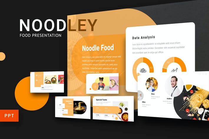 Noodley - Food Powerpoint Template