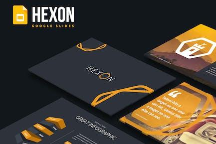 Гексон - Шаблон слайдов Google
