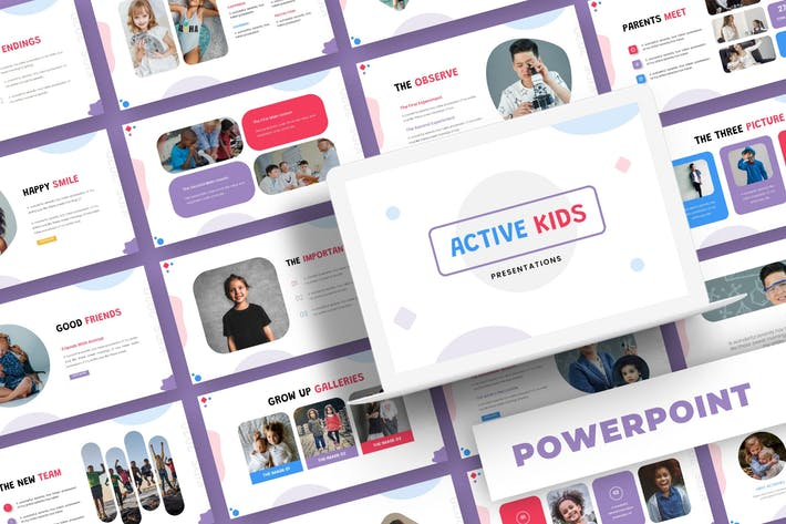 Active Kids - Powerpoint Template