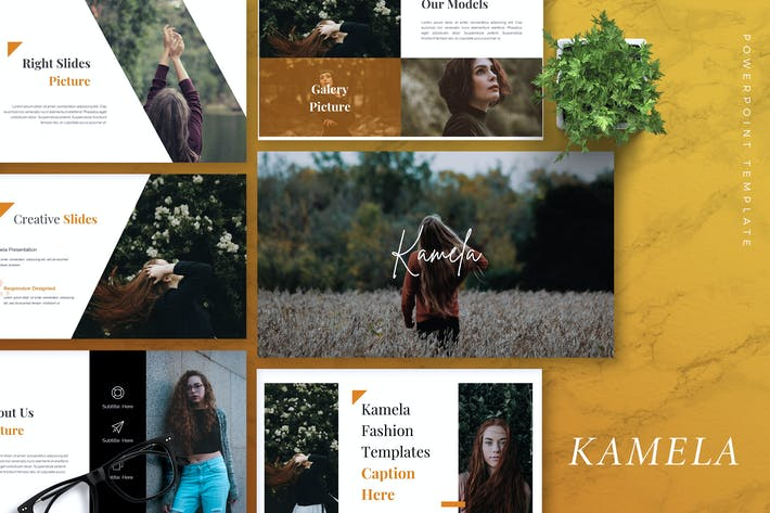 Cover Image For KAMELA - Creative Powerpoint Template