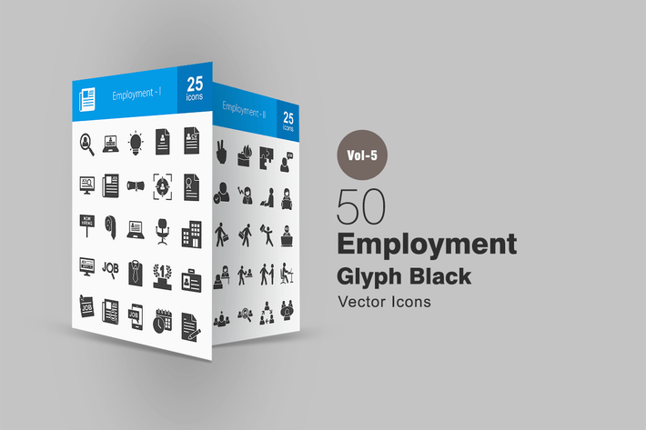 Thumbnail for 50 Employment Glyph Icons