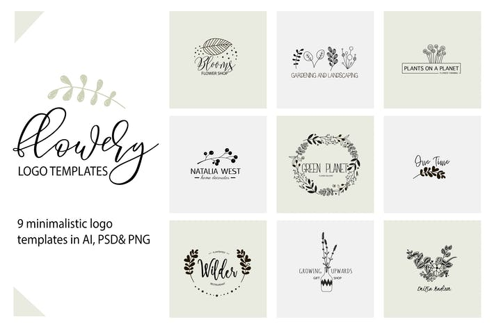 Download 17 Logos Compatible with Adobe InDesign and Illustrator