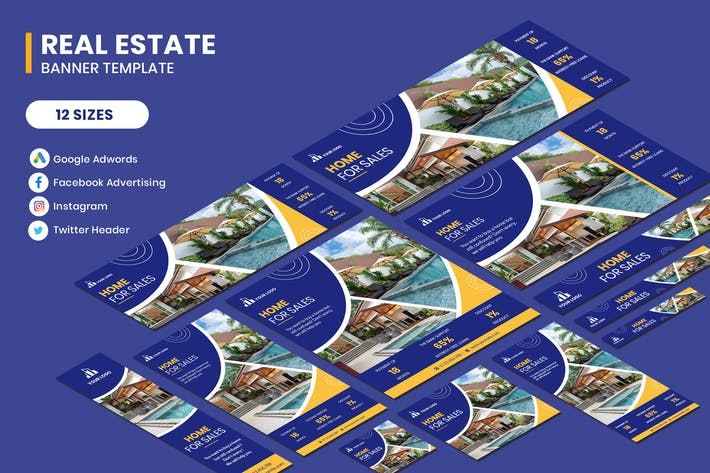 Cover Image For Real Estate Sale Google Adwords Template