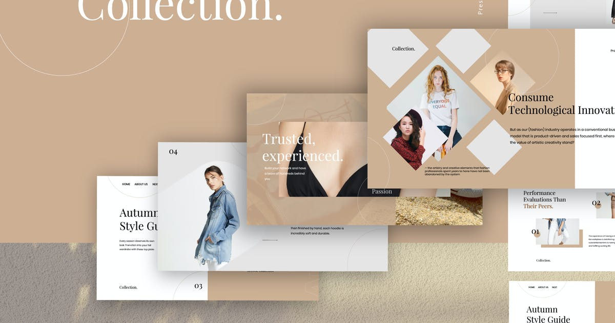 Download Collection - Fashion Design Powerpoint by dirtylinestudio