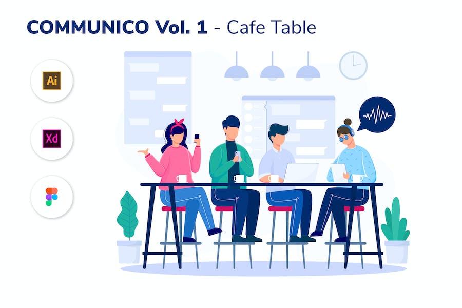 COMMUNICO VOL. 1 - Cafe Table