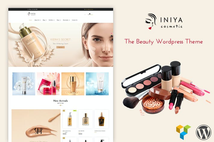 Thumbnail for Iniya - Kosmetik WordPress Thema