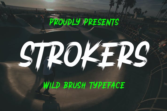 Thumbnail for Strokers - Wild Brush Typeface