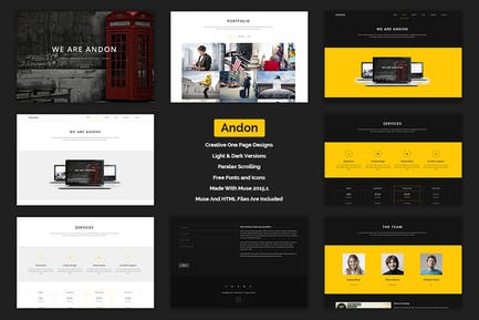 Andon - Parallax Onepage Muse Template