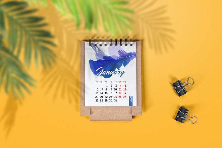 Thumbnail for Mini Desk Calendar Mockup