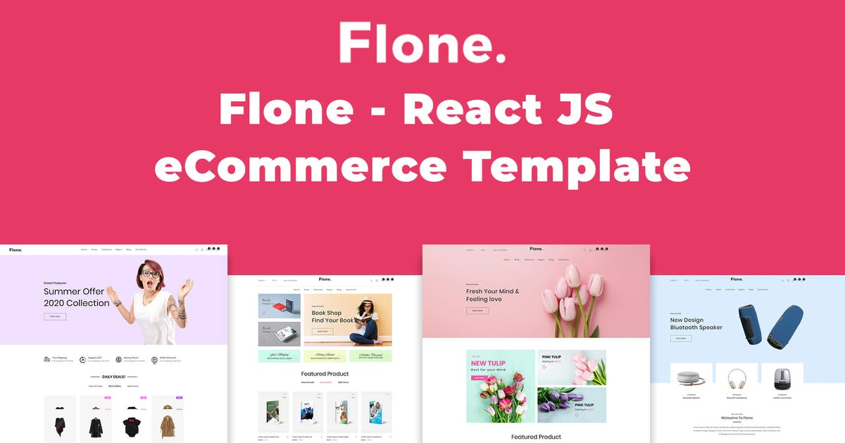 Flone React Js Ecommerce Template By Codecarnival On Envato Elements