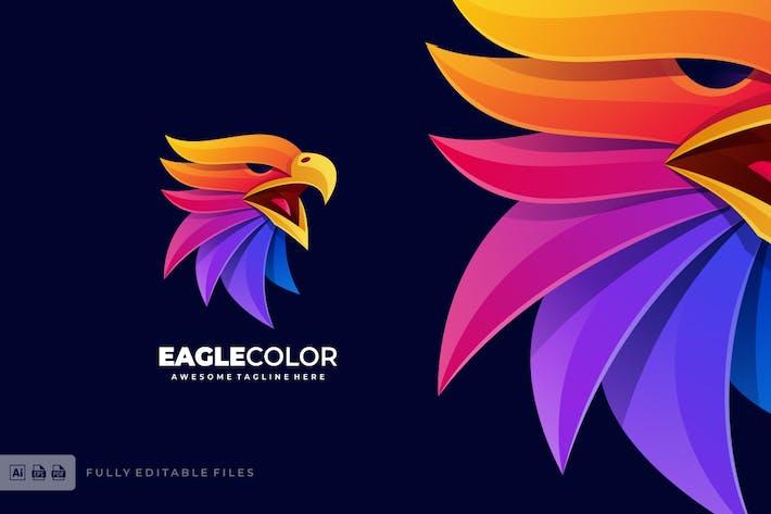 Thumbnail for Eagle Head Colorful Logo Template