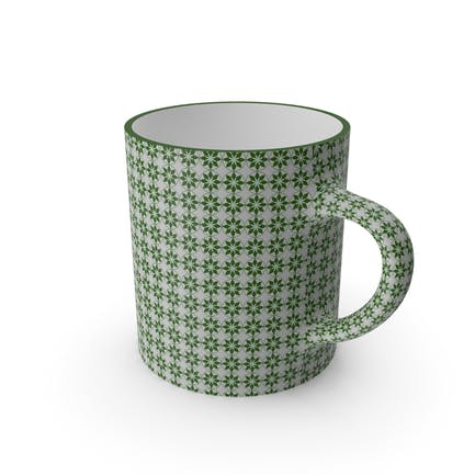 Printed Green Flower Cup